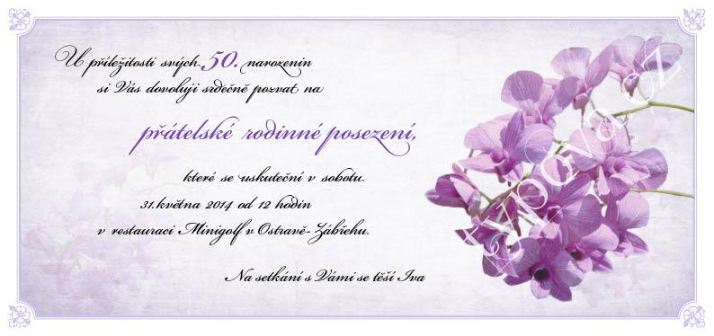 pozvánka na 50 narozeniny vzor Narozeninové pozvánky – vzory pozvánka na 50 narozeniny vzor