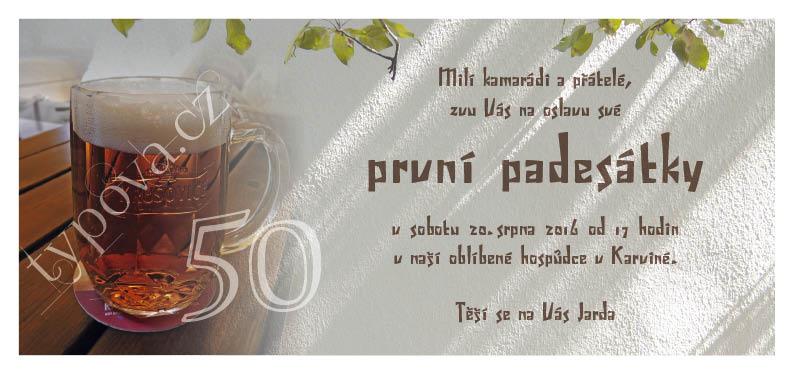 pozvánka na 50 narozeniny Narozeninové pozvánky – vzory pozvánka na 50 narozeniny