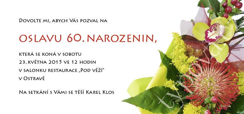pozvánka k 60 narozeninám vzor Narozeninové pozvánky – vzory pozvánka k 60 narozeninám vzor